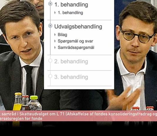 Billeder fra transmissionen af åbent samråd i Skatteudvalget, 14.12.2015