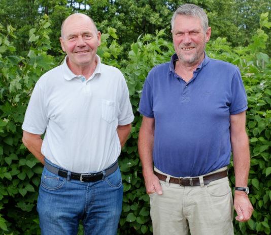Svend Erik Pedersen, direktør og Jens Olsen, bestyrelsesformand i Sparekassen Bornholms Fond