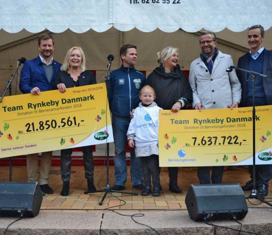 Team Rynkeby uddeler 29,4 mio. kroner til Børnecancerfonden og Børnelungefonden