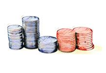 Røde og blå penge
