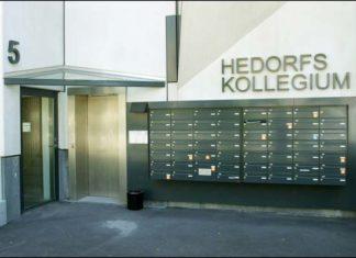 Hedorfs Kollegium hovedindgang (foto: Andreas Trier Mørch, arkitekturbilleder.dk)
