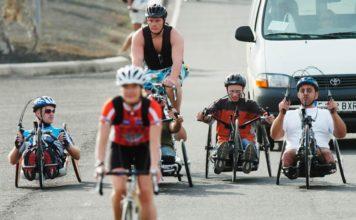 Håndcykling på Lanzarote ( foto: Parasport Danmark)