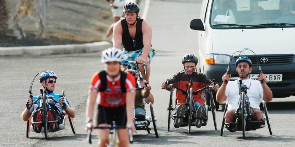 Håndcykling på Lanzarote (foto: Parasport Danmark)