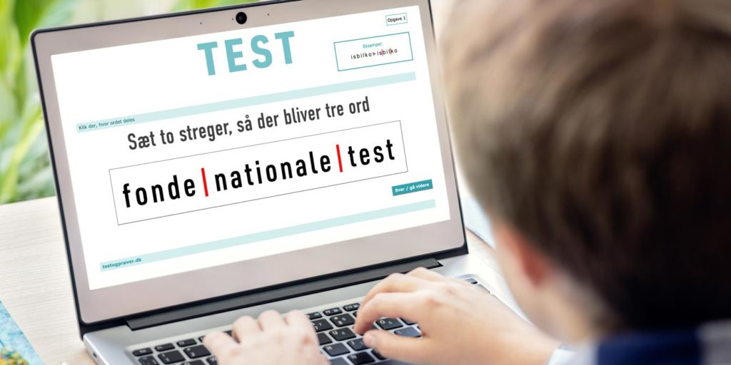 Nationale test – sæt to streger