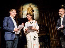 Karen-Lise Mynster modtog i 2016 Wilhelm Hansen Fondens hæderspris (foto Lars Nybøll)