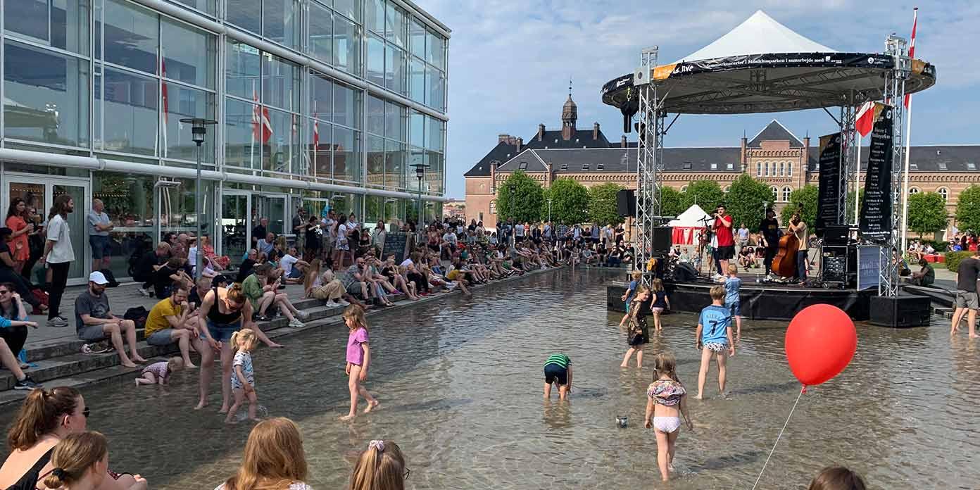 Udendørs koncert (foto: Musikhuset Aarhus)