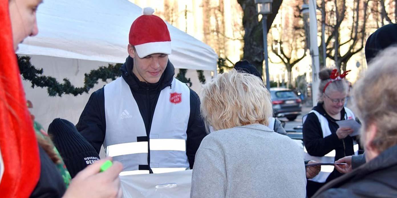 Frelsens Hærs juleuddeling i 2019 (foto: Frelsens Hær)