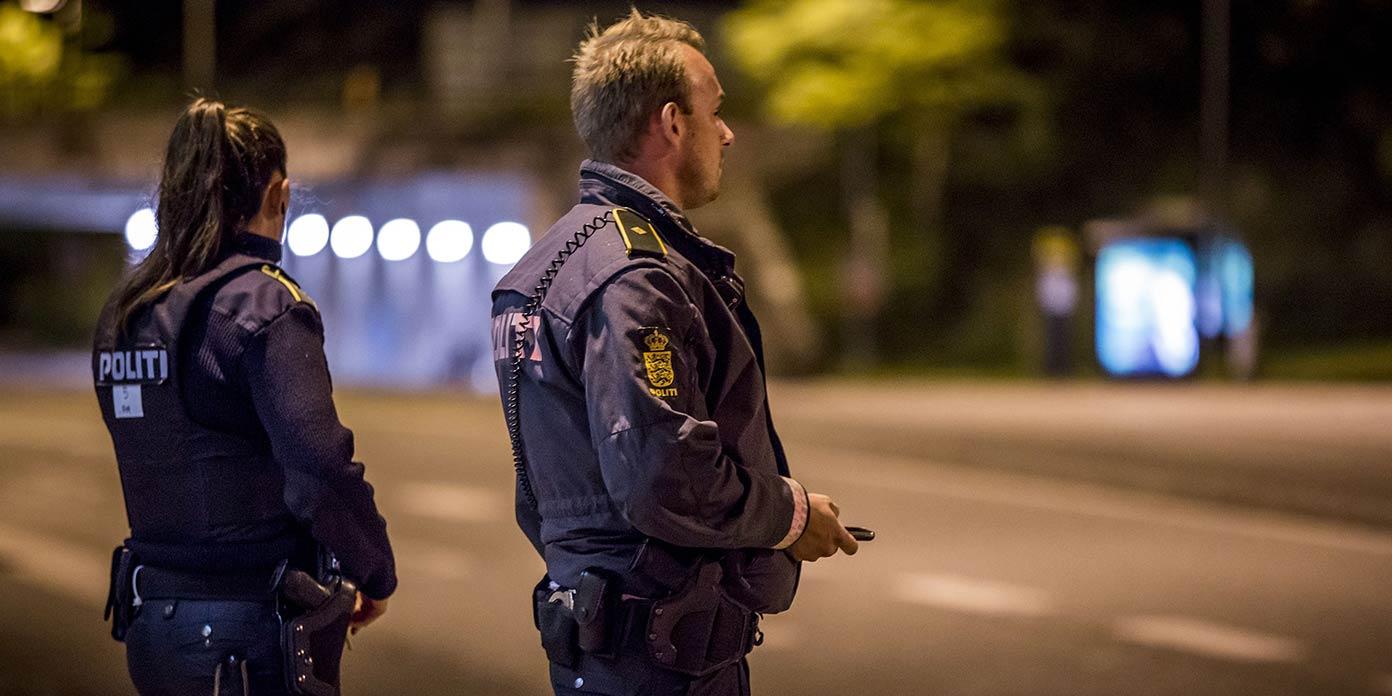 Aftenpatrulje (foto: Kim Matthäi Leland / Rigspolitiet)