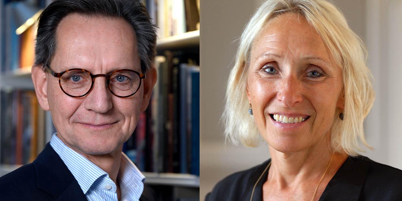 Erik Bjerager og Anne Mette Fugleholm (foto: Fonden Den Hageske Stiftelse og Diakonissestiftelsen)