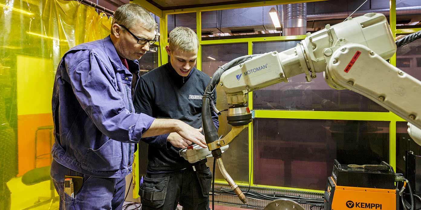 Unge på erhvervsuddannelser (foto: Industriens Fond)